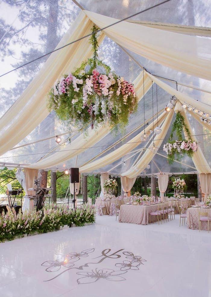 gorgeous tent wedding dance floor